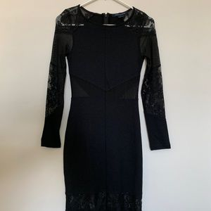 French Connection: Black Dress with Lacing